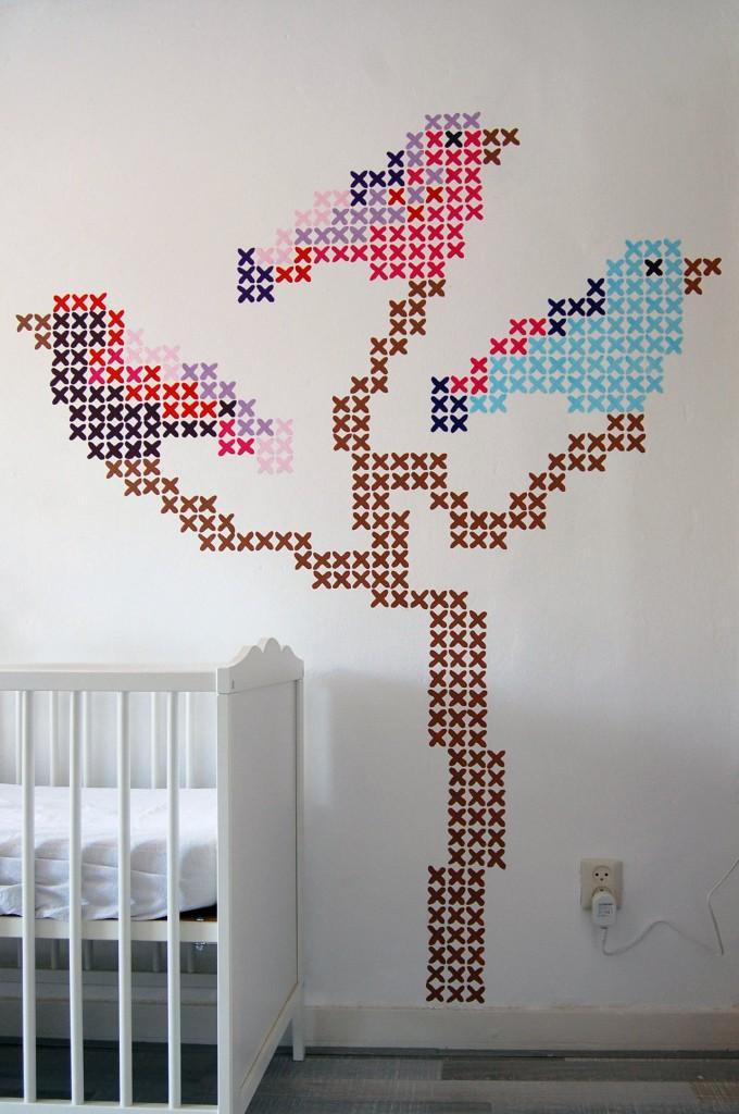 Kinderkamer borduursteken.