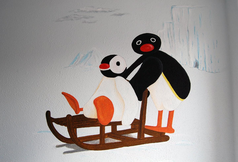 Kinderkamer Pingu.