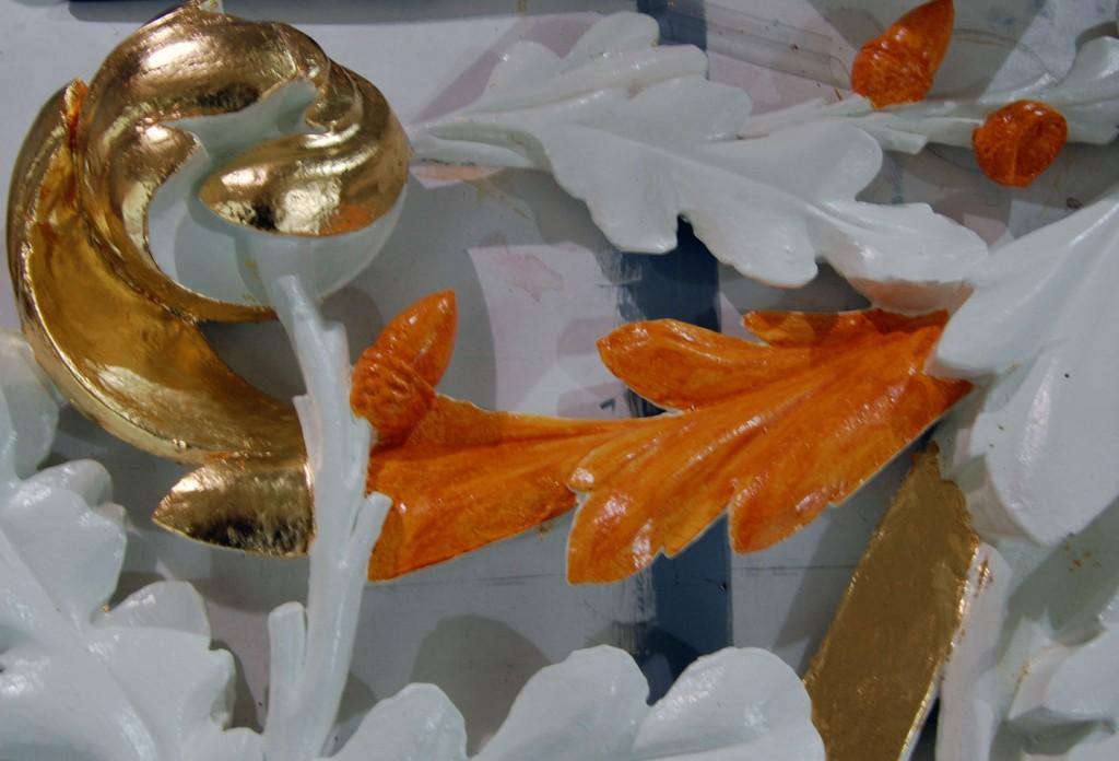 Detail orgelstuk in proces voor Laurentiuskerk.