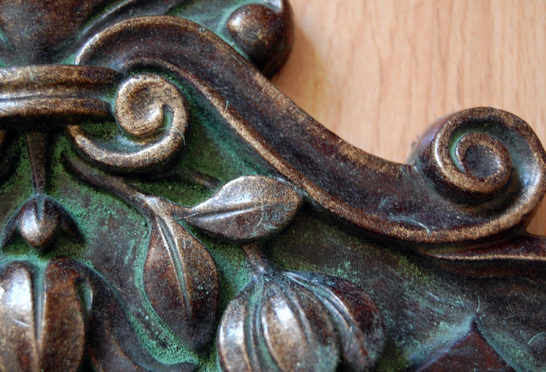 Oxidatie patina detail.